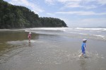 Playa Ventanas kids playing Costa Rica
