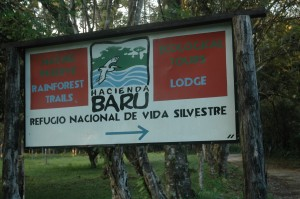 Hacienda Bara Sign Zipline