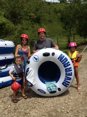 Costa Rica tubing floating