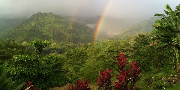 Costa Rica double rainbow